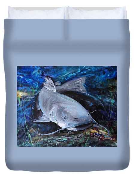 The Catfish And The Crawdad Duvet Cover