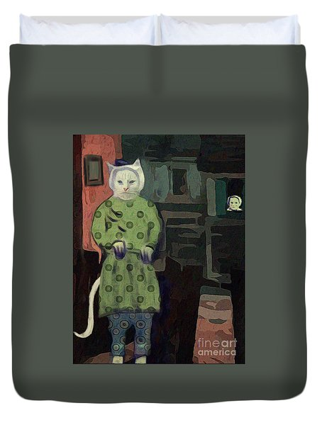 The Cat's Pajamas Duvet Cover