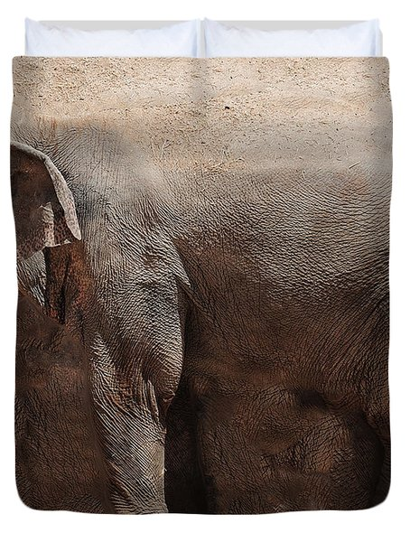 Duvet Cover featuring the digital art The Cave by Robert Orinski
