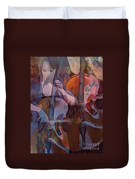 The Cellist Duvet Cover by Alexis Rotella