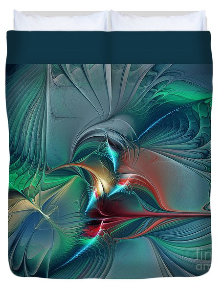 The Center Of Longing-abstract Art Duvet Cover