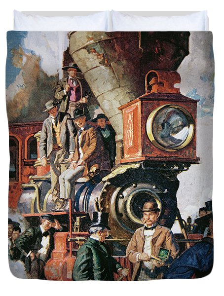 The Ceremony Of The Golden Spike On 10th May Duvet Cover