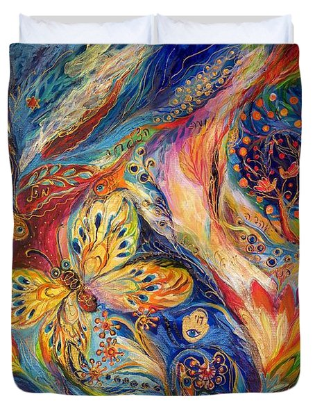 The Chagall Dreams Duvet Cover by Elena Kotliarker