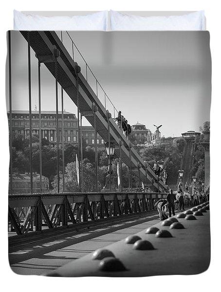 The Chain Bridge, Danube Budapest Duvet Cover