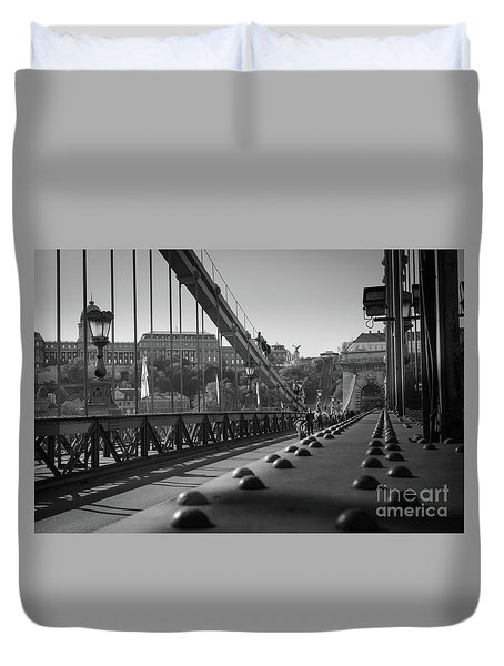 The Chain Bridge, Danube Budapest Duvet Cover