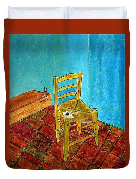 Duvet Cover featuring the photograph The Chair by Joseph Frank Baraba