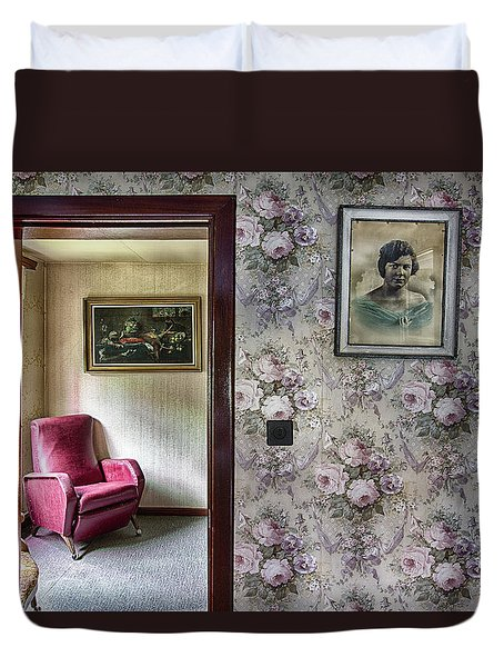 Duvet Cover featuring the photograph The Chair Of Lost Opportunities by Dirk Ercken