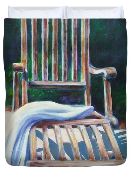 The Chair Duvet Cover by Shannon Grissom