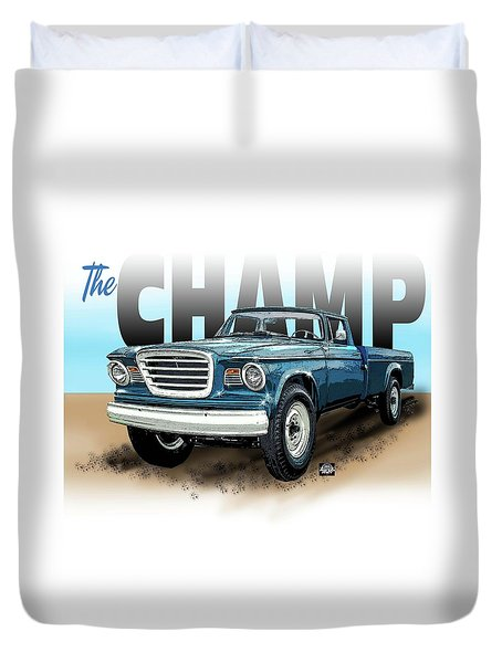 The Champ Duvet Cover