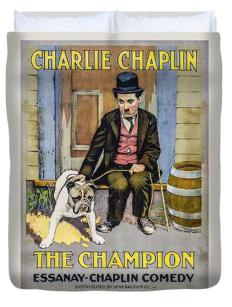 The Champion Chaplin Comedy Duvet Cover