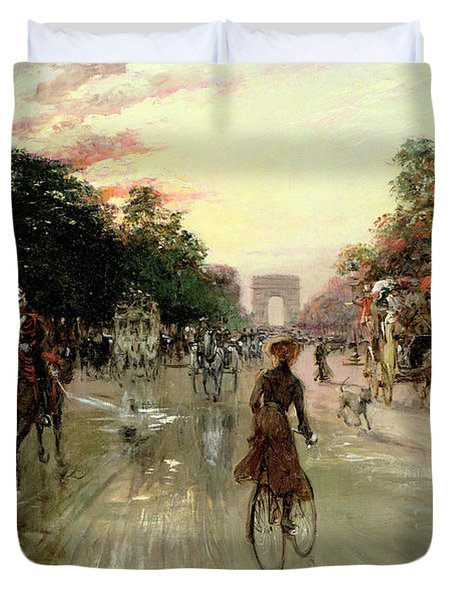 The Champs Elysees - Paris Duvet Cover