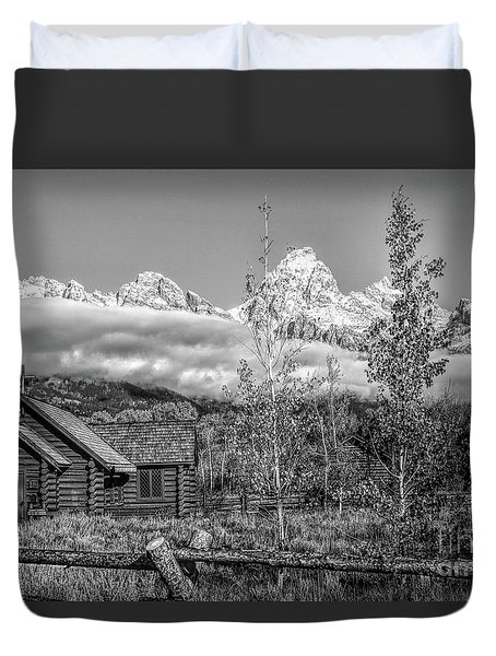 The Chapel In The Tetons Duvet Cover