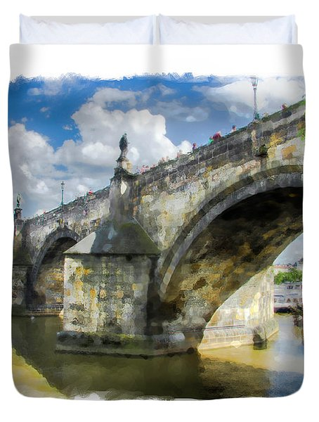 The Charles Bridge - Prague Duvet Cover