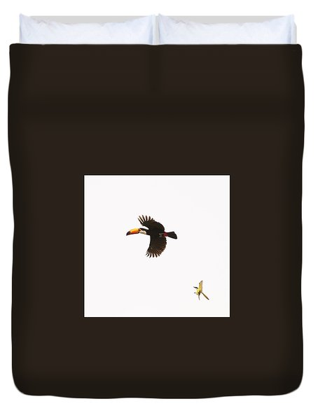 Duvet Cover featuring the photograph The Chase by Alex Lapidus