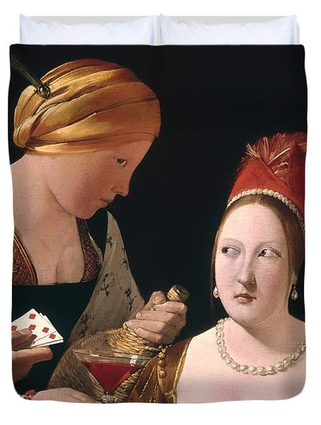 The Cheat With The Ace Of Diamonds Duvet Cover by Georges de la Tour
