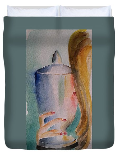 The Cherished Moment Impressionistic Contemporary Art  Duvet Cover
