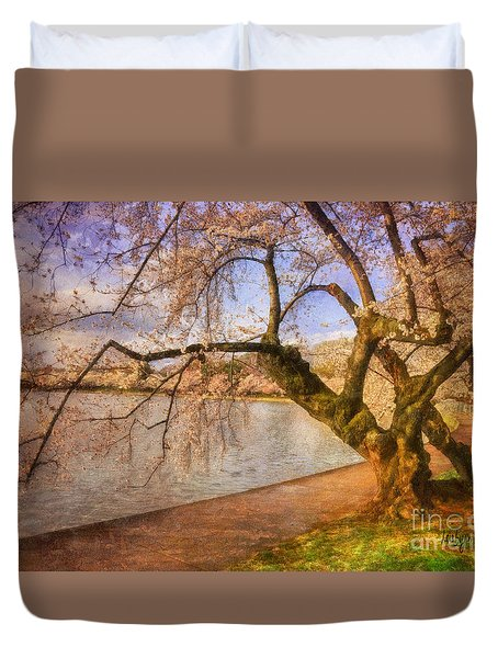 The Cherry Blossom Festival Duvet Cover by Lois Bryan