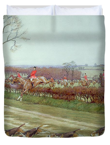 The Cheshire Away From Tattenhall Duvet Cover by Cecil Charles Windsor Aldin