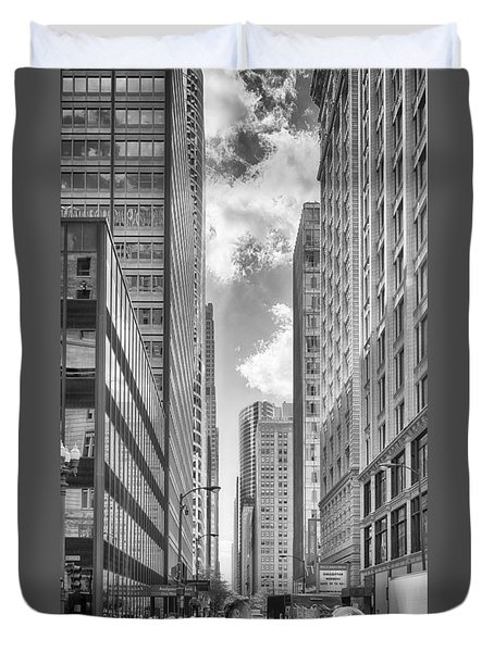 Duvet Cover featuring the photograph The Chicago Loop by Howard Salmon