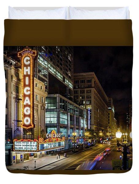 The Chicago Theatre Duvet Cover