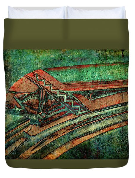 Duvet Cover featuring the digital art The Chief by Greg Sharpe