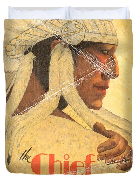 The Chief Train - Vintage Poster Folded Duvet Cover