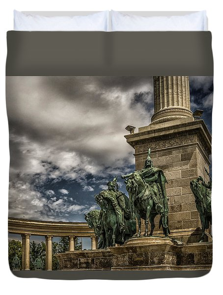Duvet Cover featuring the photograph The Chieftains Budapest by Janis Knight