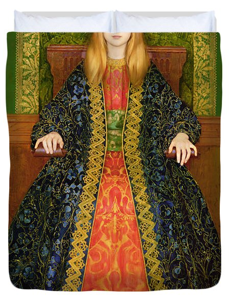 The Child Enthroned Duvet Cover by Thomas Cooper Gotch