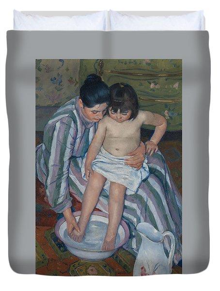The Child's Bath Duvet Cover by Mary Cassatt