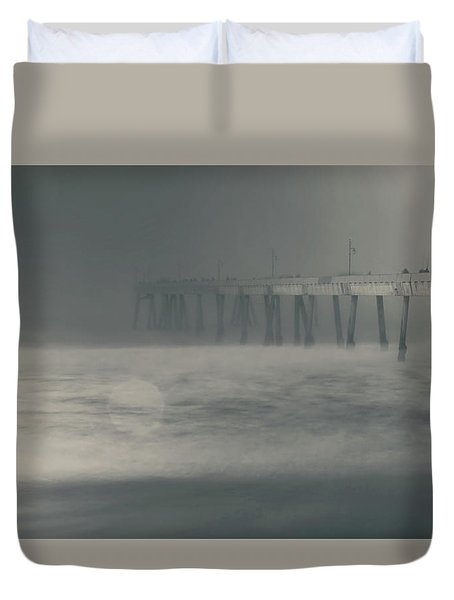 Duvet Cover featuring the photograph The Chill In My Bones by Laurie Search
