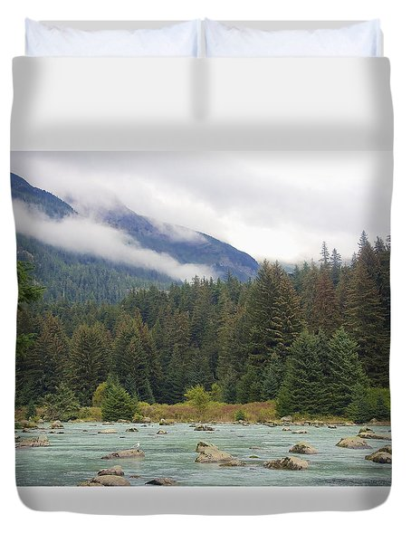 The Chillkoot River 2 Duvet Cover