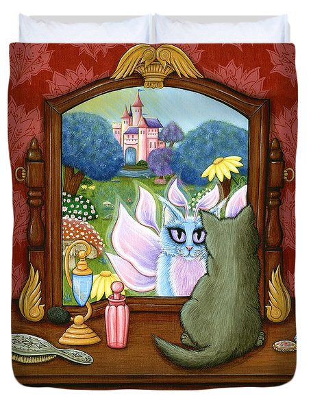The Chimera Vanity - Fantasy World Duvet Cover