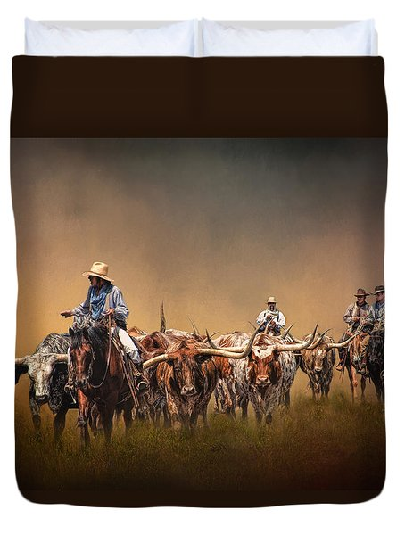 The Chisolm Trail Duvet Cover
