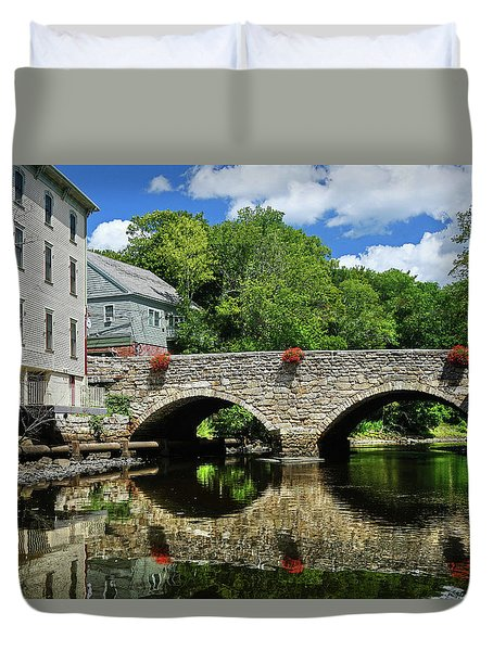 Duvet Cover featuring the photograph The Choate Bridge by Wayne Marshall Chase