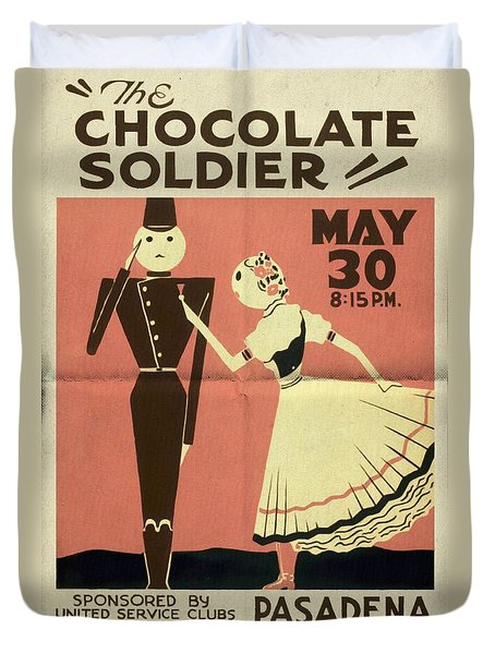 The Chocolate Soldier - Vintage Poster Folded Duvet Cover