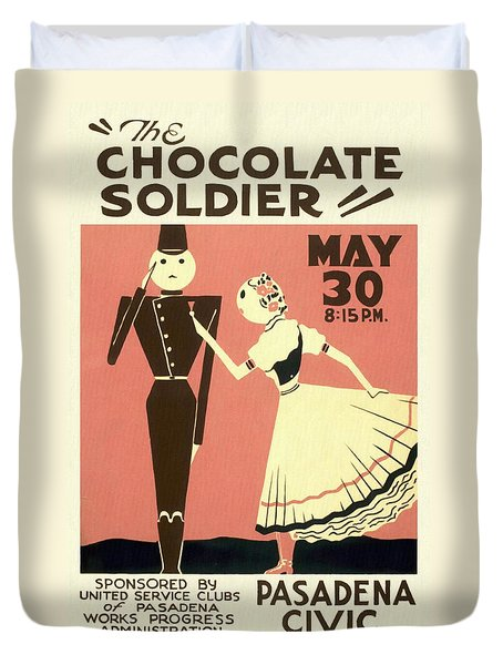The Chocolate Soldier - Vintage Poster Restored Duvet Cover
