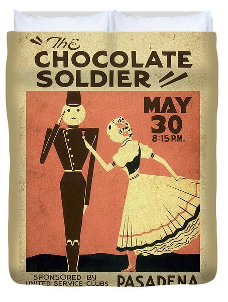 The Chocolate Soldier - Vintage Poster Vintagelized Duvet Cover