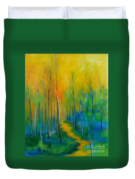 The Chosen Path  Duvet Cover by Alison Caltrider