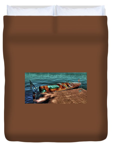 The Chris Craft Continental - 1958 Duvet Cover by David Patterson