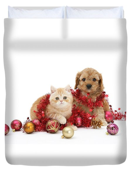 The Christmas Tree Destroyers Duvet Cover