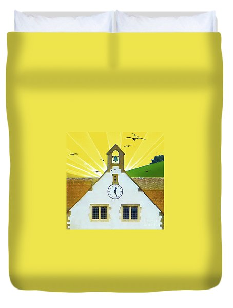 Duvet Cover featuring the photograph The Church Bell by LemonArt Photography