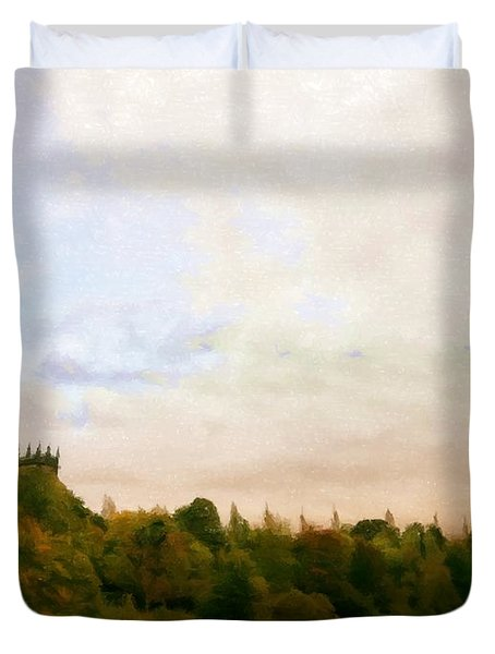 The Church By Golden Ponds Duvet Cover