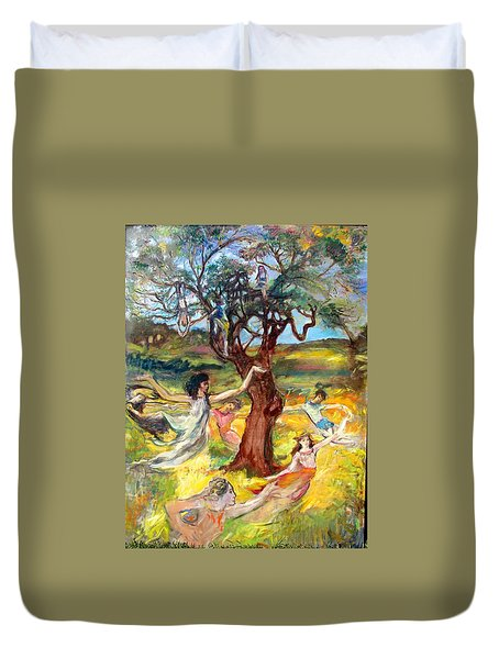 the Cinnamon Tree Duvet Cover