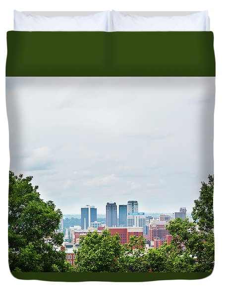 Duvet Cover featuring the photograph The City Beyond by Shelby Young