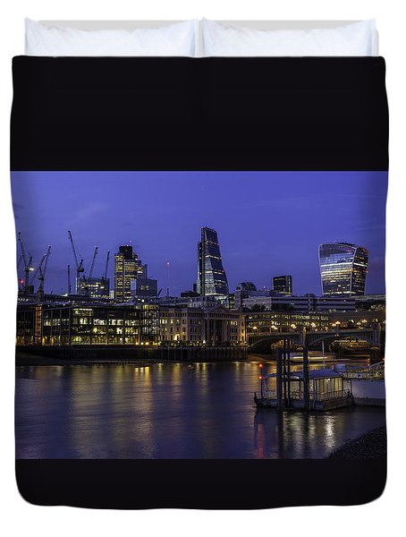 The City From The Southbank Duvet Cover