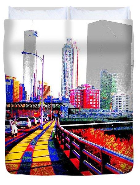 The City  Duvet Cover