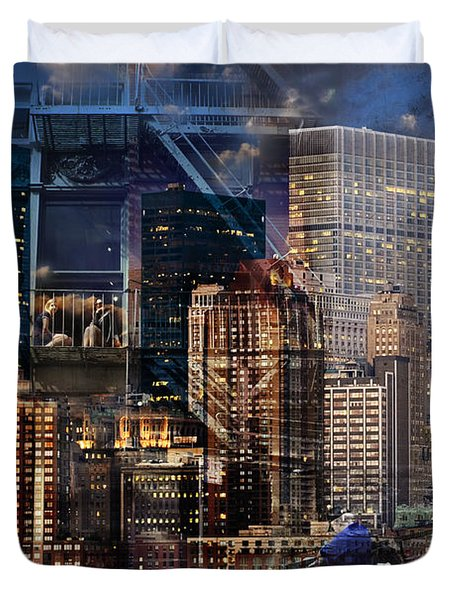 The City Duvet Cover by Judi Saunders
