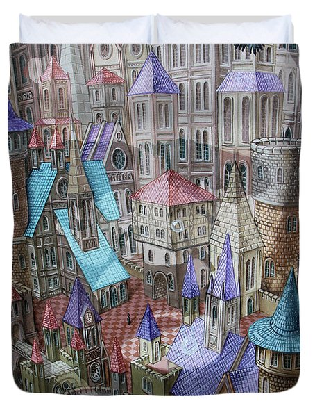 The City Of Crow Duvet Cover