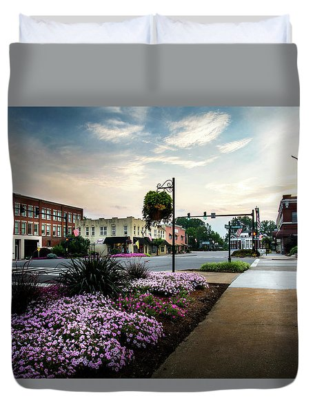 The City Of Flowers Duvet Cover