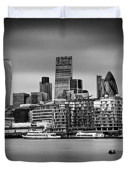 The City Of London Mono Duvet Cover